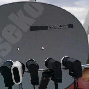 satelitni uchyceni konvertotu multifocus
